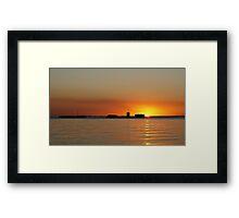 Sunken City Framed Print