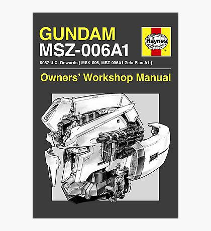 Gundam Zeta Plus - Owners' Manual Photographic Print