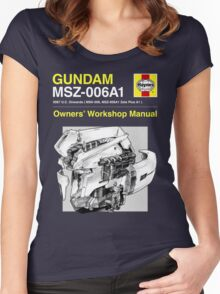 Gundam Zeta Plus - Owners' Manual Women's Fitted Scoop T-Shirt