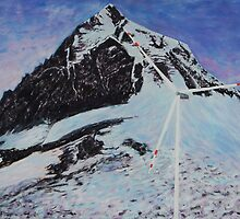 South col with wind turbine by Murray Lancaster