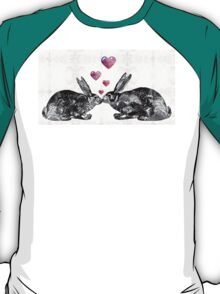 Bunny Rabbit Art - Hopped Up On Love 2 - By Sharon Cummings T-Shirt