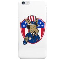 Democrat Donkey Mascot Thumbs Up Flag Cartoon iPhone Case/Skin