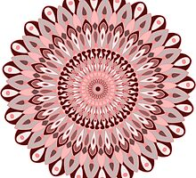 pink and grey mandala by resonanteye