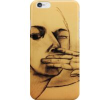 Don't say a word iPhone Case/Skin