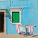 Burano - Laundry on the sun by Luisa Fumi