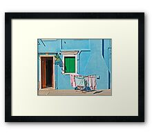 Burano - Laundry on the sun Framed Print