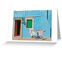 Burano - Laundry on the sun Greeting Card
