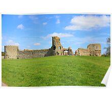Pevensey Castle, East Sussex U.K. Poster