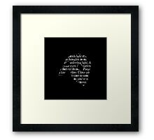 Music of the Night Mask Framed Print