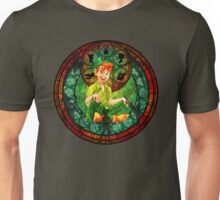 Peter Pan Stained Glass Unisex T-Shirt