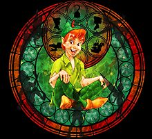 Peter Pan Stained Glass by MazukiArts