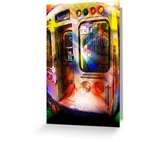 kimball train, brown line, chicago Greeting Card