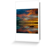 Sunset in Thailand Greeting Card