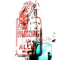 no parking in alley Photographic Print