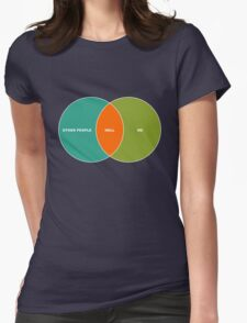 Hell is Other People - Venn Diagram Womens Fitted T-Shirt