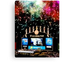 chicago white sox home run fireworks Canvas Print