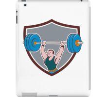Weightlifter Lifting Barbell Shield Cartoon iPad Case/Skin