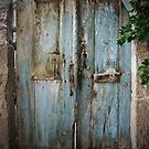 Blue Door In Shadow: Cappadocian Village by Josh Wentz
