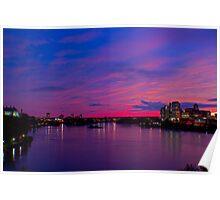 Ottawa River at night Poster
