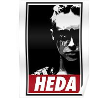 OBEY THE HEDA Poster