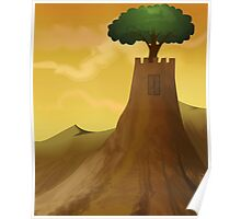 The beauty of the castle with the tree Poster