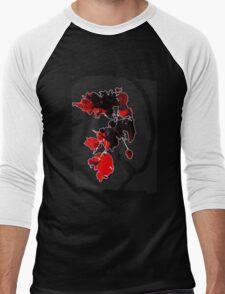 Sun-pierced Red Leaves Men's Baseball ¾ T-Shirt