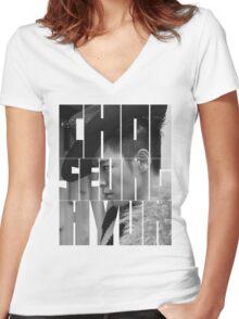 BIGBANG T.O.P 'Choi Seung Hyun' Typography Women's Fitted V-Neck T-Shirt