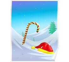 Santa Claus loses its cap and stick Poster