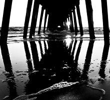 B+W Sunset - Grange Beach, Adelaide. by Christopher Morrison