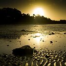 The sun goes down on Hervey Bay by Mark Elshout