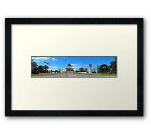 Melbourne Shrine of Remembrance Panorama Framed Print