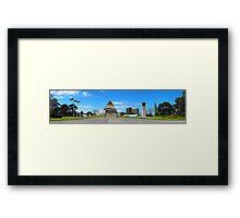 Melbourne Shrine of Remembrance Panorama Framed Print