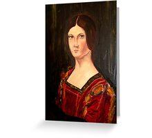 Renaissance lady oil paint study based on La belle Ferroniere Greeting Card