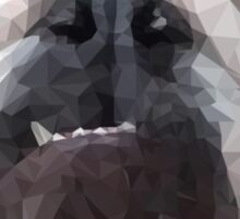 Polygonal Cubism English Bulldog Sticker