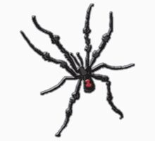 Big Creepy Black Widow Spider Kids Clothes