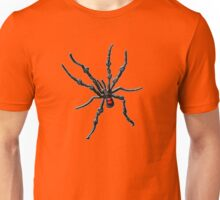 Big Creepy Black Widow Spider Unisex T-Shirt
