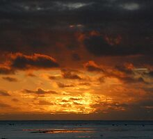 Cook Islands - Aitutaki Sunset by Geoffrey Grinton