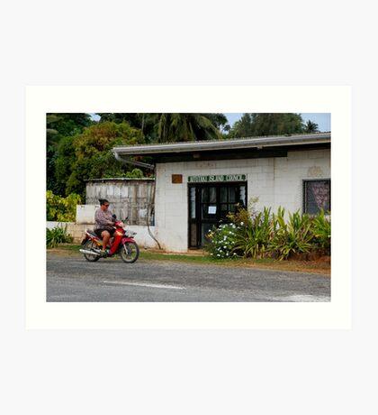 Cook Islands - Aitutaki Township Art Print