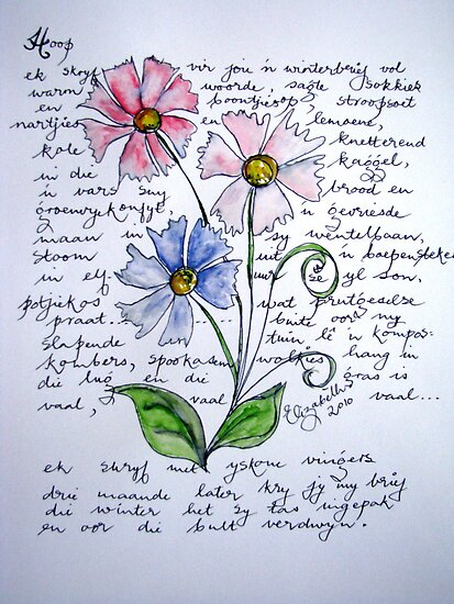 Flower-poetry by Elizabeth Kendall