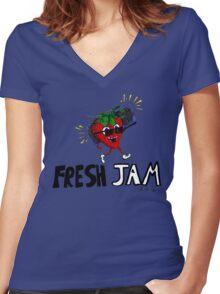 Fresh Jam  Women's Fitted V-Neck T-Shirt