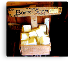Boerseep/ The wonder soap for washing! Canvas Print