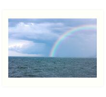 OCEAN STORM RAINBOW Art Print