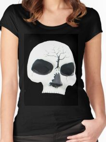 Skull Tee for Halloween Women's Fitted Scoop T-Shirt
