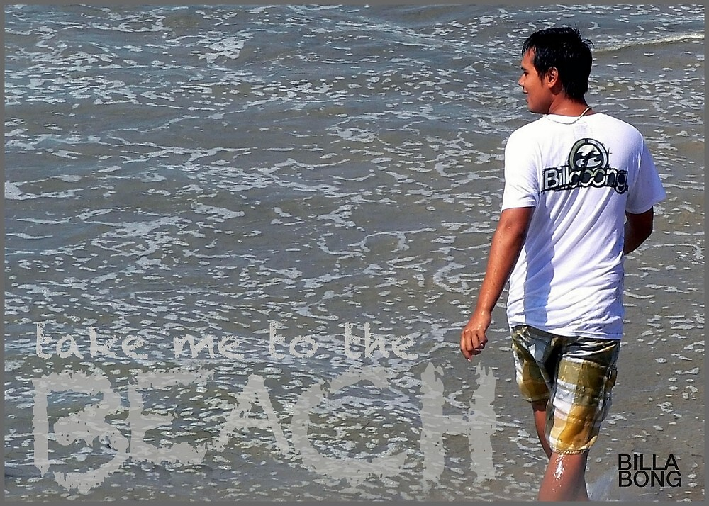 Take Me To The Beach...BillaBong! by paintingsheep