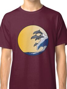 The Wave and Dolphins Classic T-Shirt