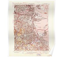 Massachusetts  USGS Historical Topo Map MA Boston South 351576 1946 31680 Poster