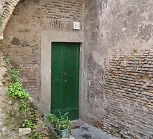 Green Door by Photography  by Mathilde