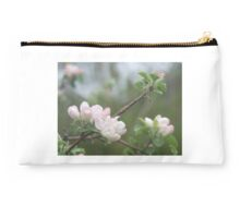 Peach Buds and Blossoms, Misty Morning Studio Pouch
