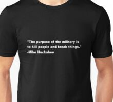 The purpose of the military Unisex T-Shirt