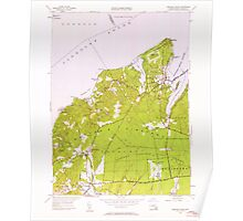 Massachusetts  USGS Historical Topo Map MA Vineyard Haven 350663 1951 24000 Poster